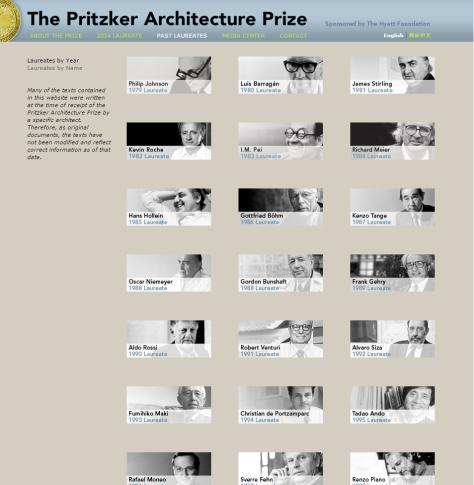 Pritzker Site Past Laureates